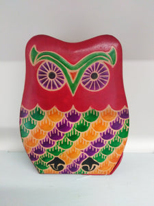Leather Money Box - Owl