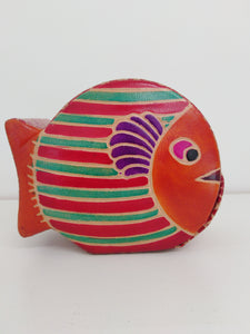 Leather Money Box - Fish