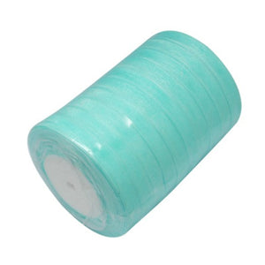 Sheer Organza Ribbon 12mm Sky Blue 45 Mtr Roll