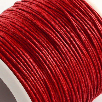1 x Red Waxed Cotton 5 Metre x 1mm Thong Cord