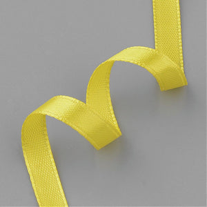 1 x Yellow Satin Ribbon 20 Metre x 7mm Spool