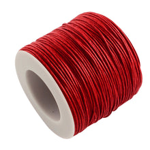 Load image into Gallery viewer, 1 x Red Waxed Cotton 5 Metre x 1mm Thong Cord
