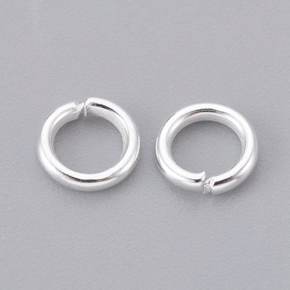 Iron  5 x 1mm Open Unsoldered Silver Colour Jump Rings Pack Of 110