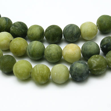 Natural Frosted Taiwan Jade 6mm Gemstone Loose Beads Round