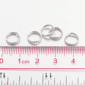 Pack of 200 Iron Split Rings, 8 x 1.4mm