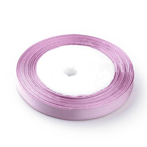 1 x Plum Satin Ribbon 20 Metre x 7mm