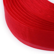 Load image into Gallery viewer, Sheer Organza Ribbon Crimson 12mm - 45 Mtr Roll