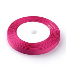 Load image into Gallery viewer, 1 x Bright Pink Satin Ribbon 20 Metre x 7mm Spool