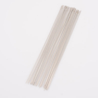 Pack of 10 Steel Beading Needles - 80 x 0.45mm