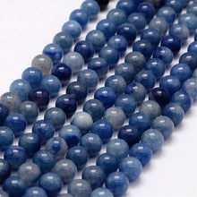 Load image into Gallery viewer, Natural Blue Aventurine Beads Loose Beads Round 8mm