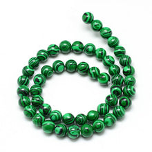 Load image into Gallery viewer, Synthetic Malachite Loose Beads Gemstone 6mm