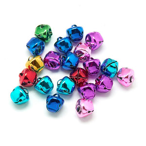 Pack of 25 Iron Bell Charms, Mixed Colour