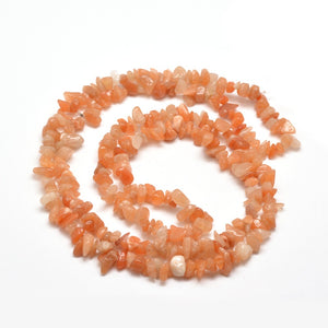 "31"" Strand Natural Orange Aventurine 5-8mm Chip Beads"
