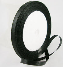 Load image into Gallery viewer, 1 x Black Satin Ribbon 20 Metre x 25mm