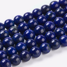 Load image into Gallery viewer, 25 x Natural Lapis Lazuli Semi -Precious Beads - 6mm