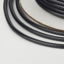 Load image into Gallery viewer, 1 x Black Waxed Polyester 10 Metre x 1mm Thong Cord