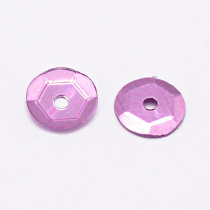 Sequins (Loose) Acrylic Cupped Lilac 6-7mm Pack of 30g