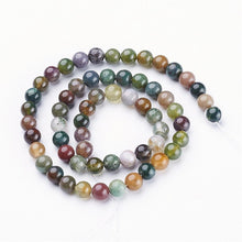 Load image into Gallery viewer, Natural Indian Agate 6mm Loose Beads Round