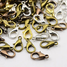 Load image into Gallery viewer, Packet Of 50 x Mixed Plated Strong Quality Lobster Clasps 10mm x 6mm