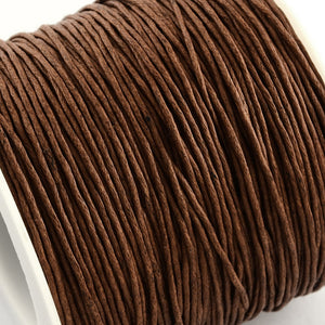 1 x Brown Waxed Cotton 5 Metre x 1mm Thong Cord