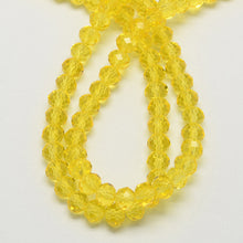 Load image into Gallery viewer, Yellow Glass Crystal Beads, Faceted, Abacus, Rondelle - 8 x 6mm