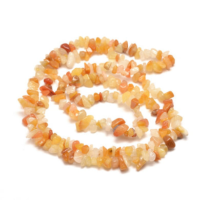 Long Strand Of 240+ Yellow Jade 5-8mm Chip Beads