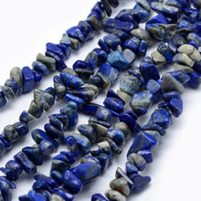 "Load image into Gallery viewer, 33"" Strand Tumbled Gemstone Lapis Lazuli Chip Beads"