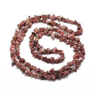Long Strand Of 240+ Natural Rhodonite 5-8mm Chip Beads