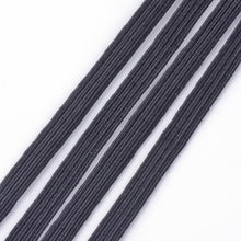Load image into Gallery viewer, 1 x 5 mtr Flat Elastic Cord, Black, 6mm