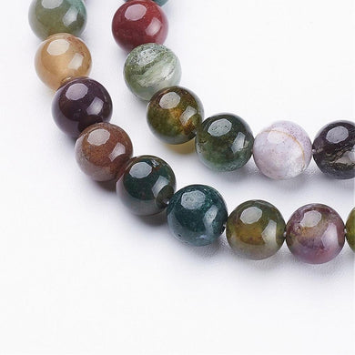 Natural Indian Agate 6mm Loose Beads Round