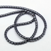 Load image into Gallery viewer, Gunmetal Non Magnetic Hematite Loose Beads Column 4 x 5mm