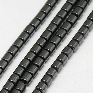 Gunmetal Non Magnetic Hematite Loose Beads Column 4 x 5mm