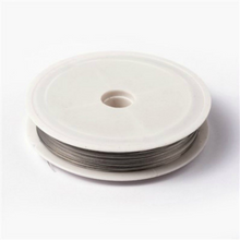 Load image into Gallery viewer, 0.35mm Tiger Tail Wire Spool, Stainless Wire, Approx 50 mtrs - Light Grey