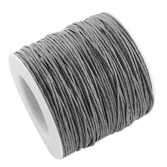 Wholesale Deal Waxed Cotton String Cord Grey Approx 90M Continuous Length 1mm Thick