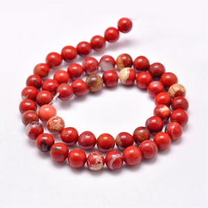 Grade AB Natural Red Jasper 4mm Loose Beads Round