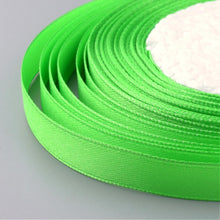 Load image into Gallery viewer, 1 x Lime Green Satin Ribbon 20 Metre x 7mm
