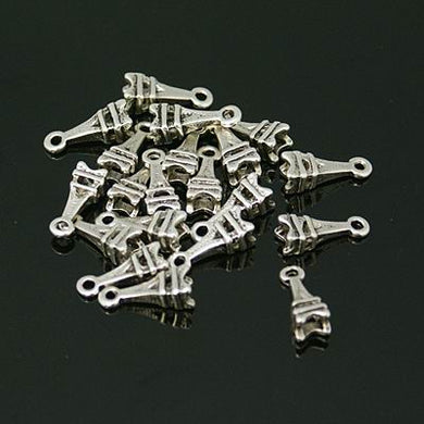 Pack of 30 Tibetan Style Eiffel Tower Charms - 13mm