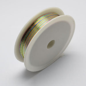 1 x Copper Jewellery Multi Colour, Rainbow Craft Wire 21 Metre x 0.3mm Roll