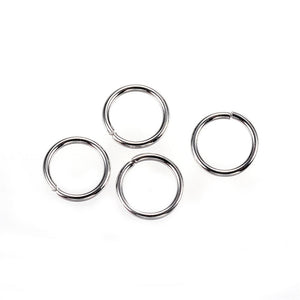 304 Stainless Steel Jump Rings 8 x 0.9mm Pack of 110
