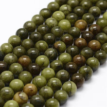 Load image into Gallery viewer, Strand of Natural Chinese Jade 8mm Plain Round Beads