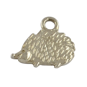 Packet of 10 x Antique Silver Tibetan 13mm Charms Pendants (Hedgehog)