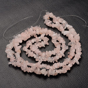 Long Strand Of 240+ Rose Quartz 5-8mm Chip Beads