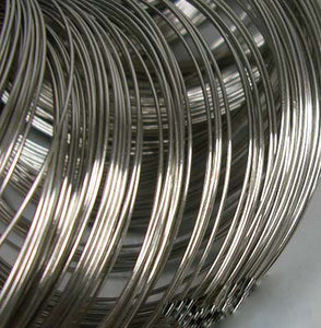 Steel Memory Wire, Nickel Free, 55mm x 0.6mm, 30 Circles