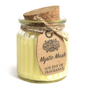 Soy Pot Of Fragrance Glass Jar Candle - Mystic Musk