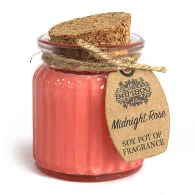 Soy Pot Of Fragrance Glass Jar Candle - Midnight Rose