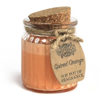Soy Pot Of Fragrance Glass Jar Candle - Spiced Orange