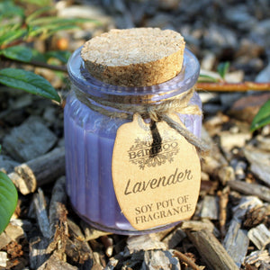 Soy Pot Of Fragrance Glass Jar Candle - Lavender