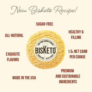 BisKeto Lemon - Low-Carb Keto Cookies - Box with 12 (6 packs of 2)