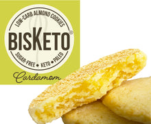 Load image into Gallery viewer, BisKeto Cardamom - Low-Carb Keto Cookies - Box with 12 (6 packs of 2)