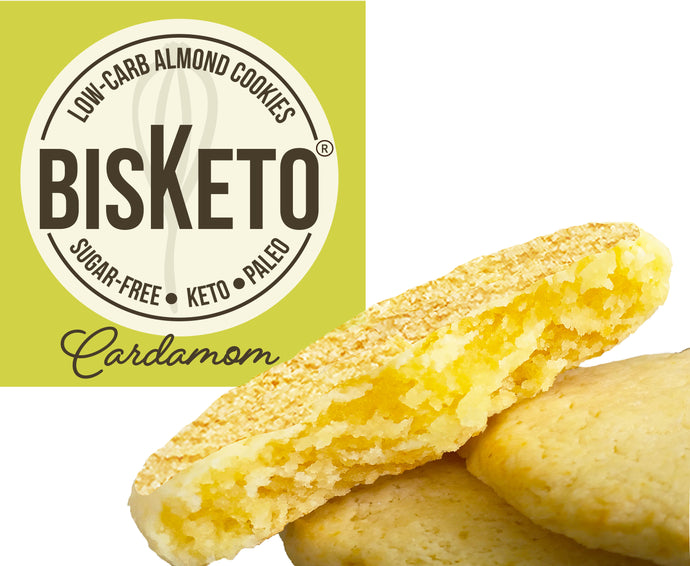 BisKeto Cardamom - Low-Carb Keto Cookies - Box with 12 (6 packs of 2)